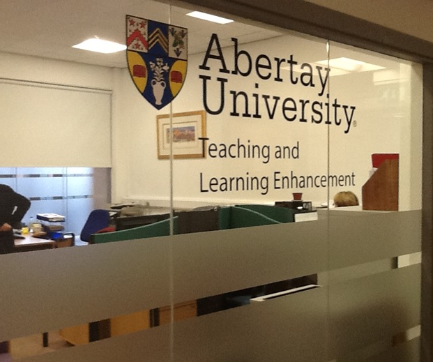 image display a photo of the TLE office at Abertay University